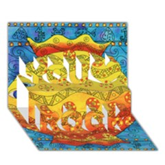 Patterned Fish You Rock 3D Greeting Card (7x5)