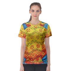 Patterned Fish Women s Sport Mesh Tees