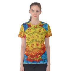 Patterned Fish Women s Cotton Tees