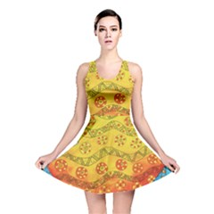 Patterned Fish Reversible Skater Dresses