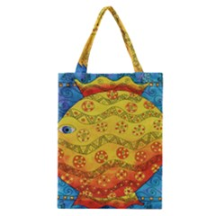 Patterned Fish Classic Tote Bags