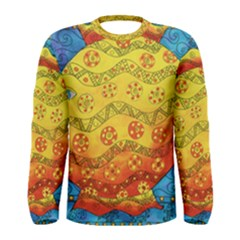 Patterned Fish Men s Long Sleeve T-shirts