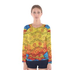 Patterned Fish Women s Long Sleeve T-shirts
