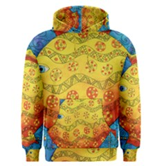 Patterned Fish Men s Pullover Hoodies
