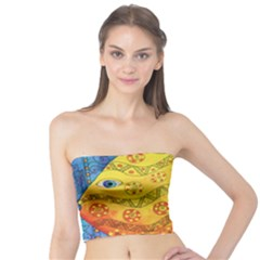Patterned Fish Women s Tube Tops