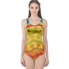 Patterned Fish Women s One Piece Swimsuits