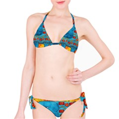 Patterned Elephant Bikini Set