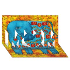 Patterned Elephant MOM 3D Greeting Card (8x4)