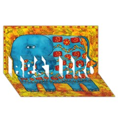 Patterned Elephant BEST BRO 3D Greeting Card (8x4)
