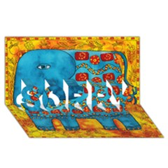 Patterned Elephant SORRY 3D Greeting Card (8x4)