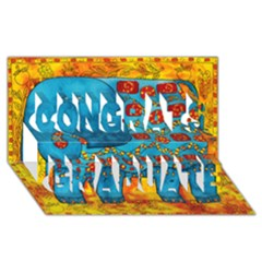 Patterned Elephant Congrats Graduate 3D Greeting Card (8x4)