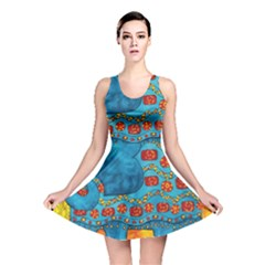 Patterned Elephant Reversible Skater Dresses