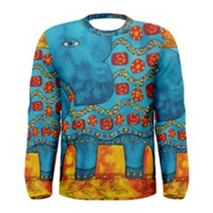 Patterned Elephant Men s Long Sleeve T-shirts