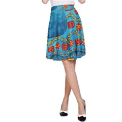 Patterned Elephant A-Line Skirts
