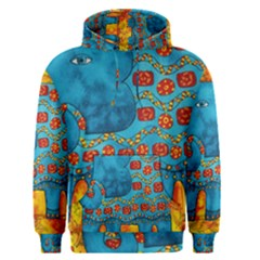 Patterned Elephant Men s Pullover Hoodies