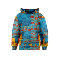 Patterned Elephant Kid s Pullover Hoodies