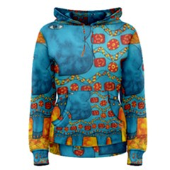 Patterned Elephant Women s Pullover Hoodies