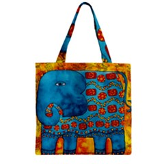 Patterned Elephant Zipper Grocery Tote Bags