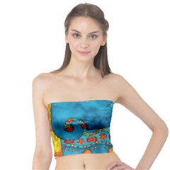 Patterned Elephant Women s Tube Tops