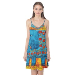 Patterned Elephant Camis Nightgown
