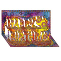 Patterned Butterfly Happy Birthday 3D Greeting Card (8x4)