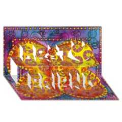 Patterned Butterfly Best Friends 3d Greeting Card (8x4)