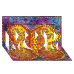 Patterned Butterfly Mom 3d Greeting Card (8x4)