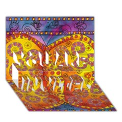 Patterned Butterfly YOU ARE INVITED 3D Greeting Card (7x5)