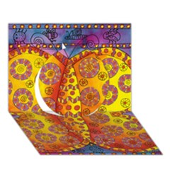 Patterned Butterfly Circle 3D Greeting Card (7x5)