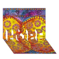 Patterned Butterfly HOPE 3D Greeting Card (7x5)