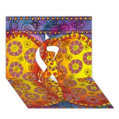 Patterned Butterfly Ribbon 3d Greeting Card (7x5)