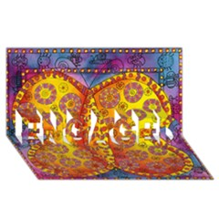 Patterned Butterfly Engaged 3d Greeting Card (8x4)