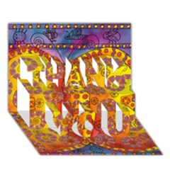 Patterned Butterfly THANK YOU 3D Greeting Card (7x5)
