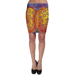 Patterned Butterfly Bodycon Skirts