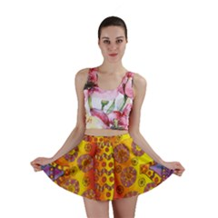 Patterned Butterfly Mini Skirts