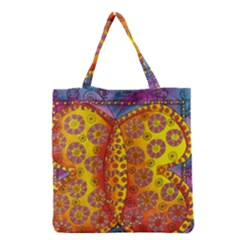 Patterned Butterfly Grocery Tote Bags