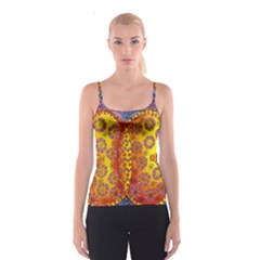 Patterned Butterfly Spaghetti Strap Tops