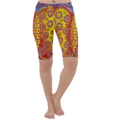 Patterned Butterfly Cropped Leggings
