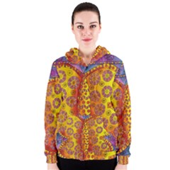 Patterned Butterfly Women s Zipper Hoodies