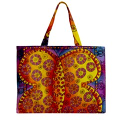 Patterned Butterfly Zipper Tiny Tote Bags