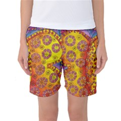 Patterned Butterfly Women s Basketball Shorts