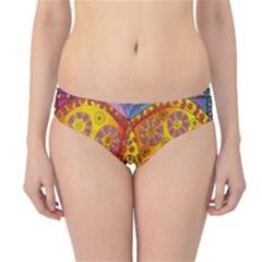 Patterned Butterfly Hipster Bikini Bottoms