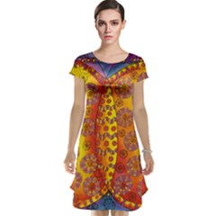 Patterned Butterfly Cap Sleeve Nightdresses