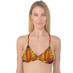 Patterned Butterfly Reversible Tri Bikini Tops