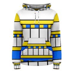 Stripes and squares Pullover Hoodie