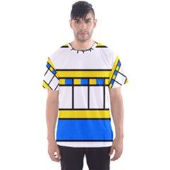 Stripes And Squares Men s Sport Mesh Tee