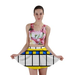 Stripes And Squares Mini Skirt