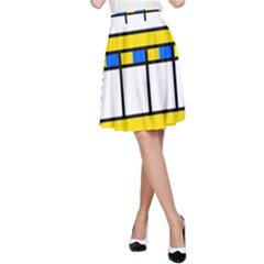 Stripes and squares A-line Skirt