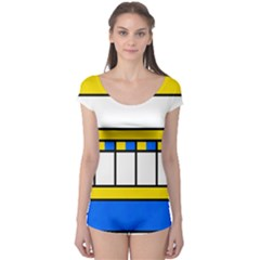 Stripes and squares Short Sleeve Leotard