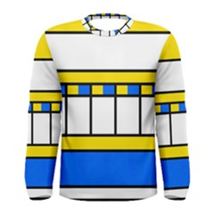 Stripes And Squares Men Long Sleeve T Shirt